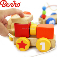 Baby train Wholesale Educational Wooden Baby toy