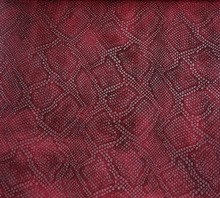The backing of imitation cotton lint, snake skin grain PU synthetic leather