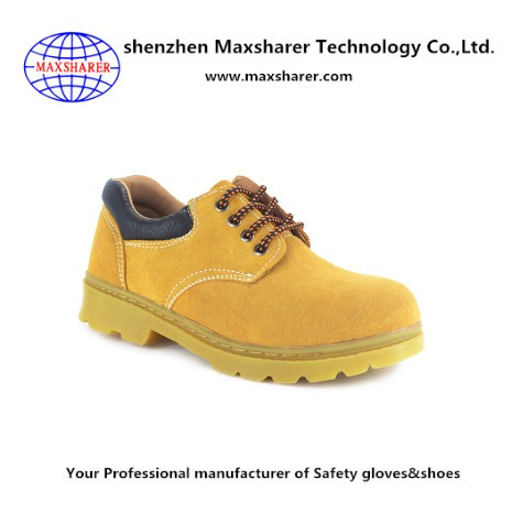 New design construction work boots leather steel toe insert safety boots