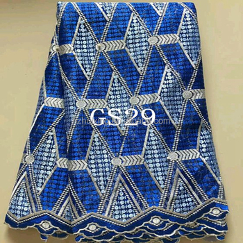 best quality blue nigeria parls laces french dress net lace fabric