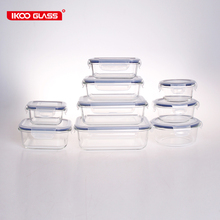 Leakproof 18-Piece Glass Lunch Box Container Set with Airtight Lid