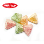 Ginger flavour soft spicy gummy candy with coconut coated