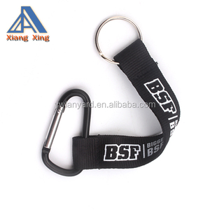 Plush Polyester Strap Carabiner Hook Floating Short Cotton Lanyard