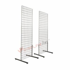 Hot Sale Metal Gridwall Floor Display Rack with T Legs