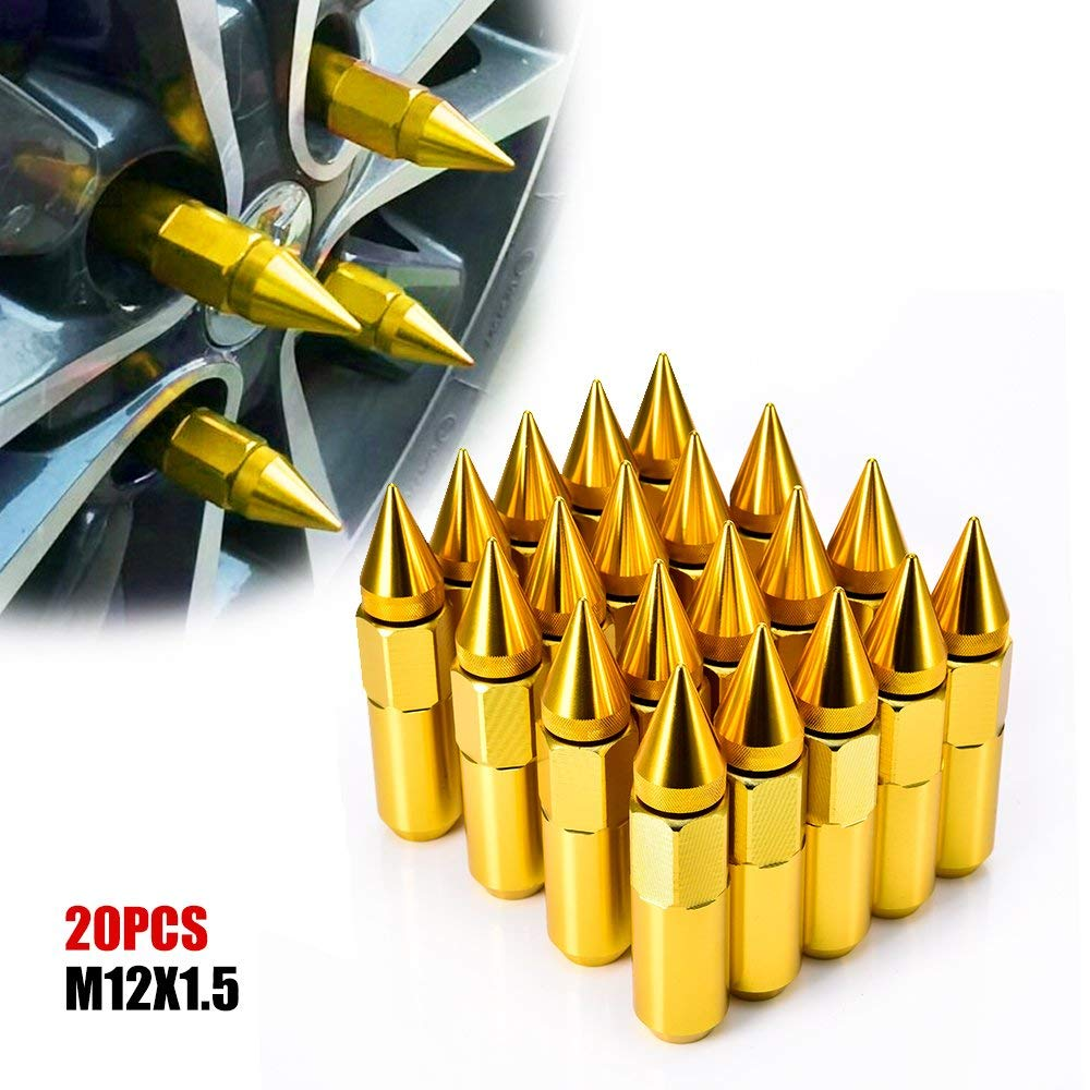 20 Piece Wheels Rims M12 x1.5mm Thread Pthch 60mm Long Extended Lug Nuts Purple