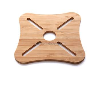 New Design Wooden Dining Table Floor Mats Bamboo Clear Mat For Houseware Handmade