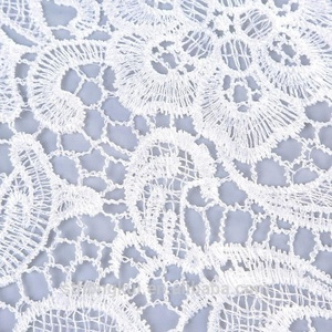 Luxury water soluble wedding embroidery lace fabric/chemical gota lace embroidery fabric