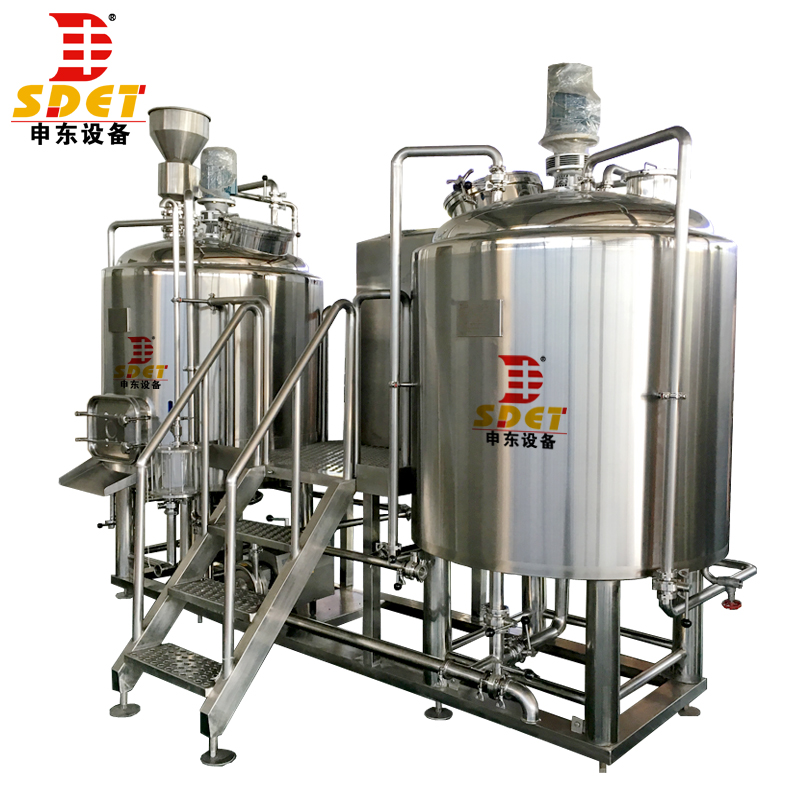 Shandong 100l~500l used beer brewing kettle for brewpub and restaurant