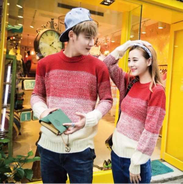 Fashion Couple Pullover Sweater