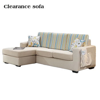 Clearance L Shape Corner Fabric Curved Sofa