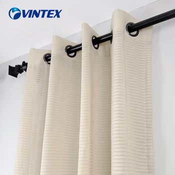 Professional cheap 290cm 118gsm hotel voile curtain sheer