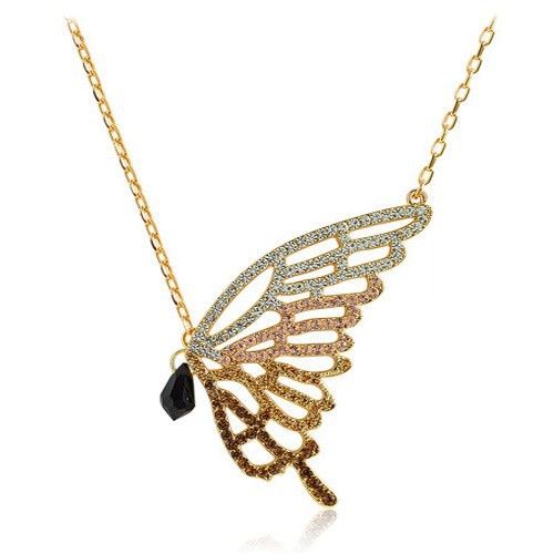 Fast Delivery Fashion Wholesale Butterfly Decorations, Luxury Jewelry, Butterfly Necklace