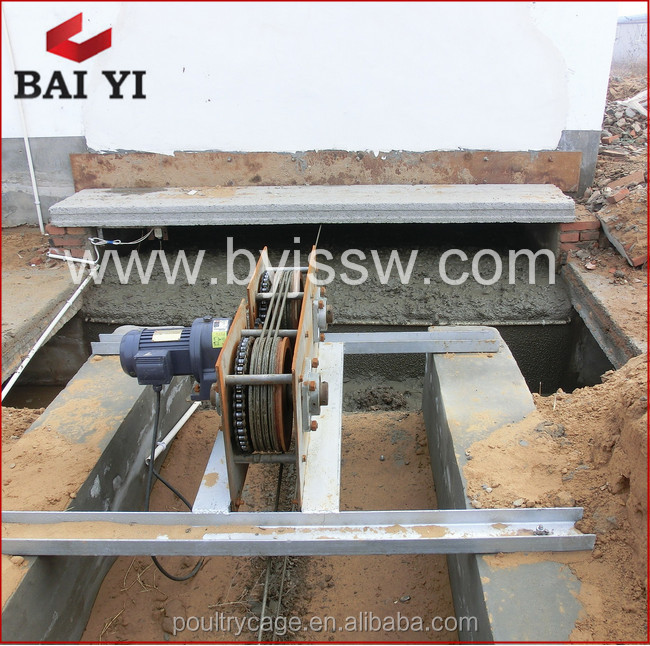 Baiyi Supplier Stable Running Low Noise Automatic Machine For Poultry Farming Cleaning
