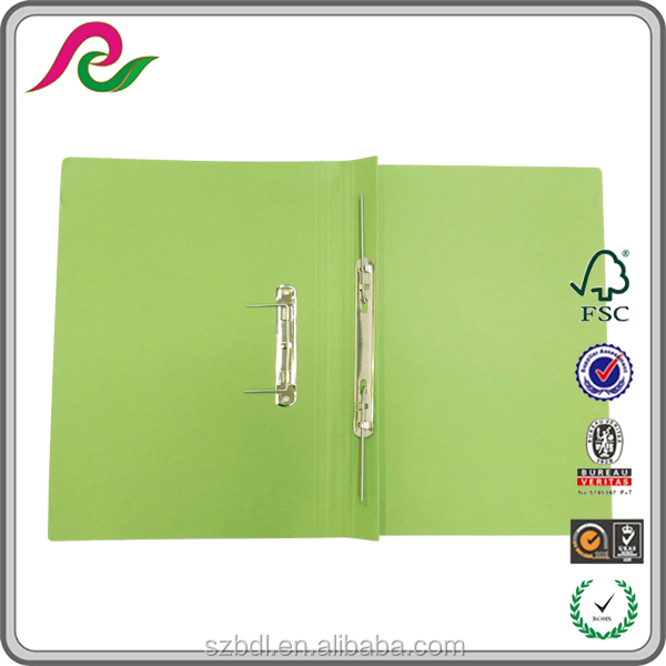 Enterprise Stationery print manilla spring files metal clip file folder