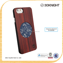 Jeans Cloth Mixed Wood Mobile Phone Cases Cell Phone Accessories Phone Cover for iPhone6, OEM/ODM Factory Dongguan