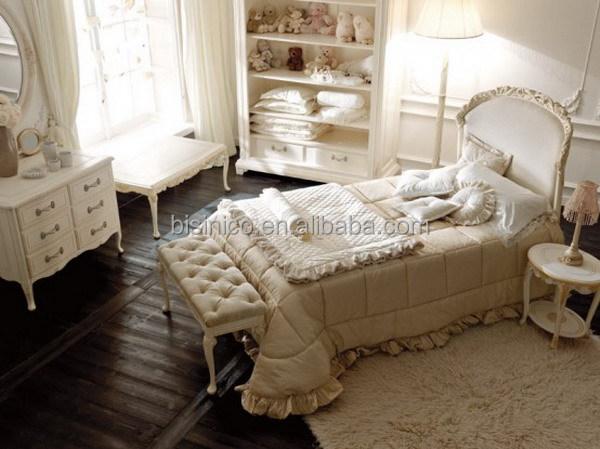 Victoria estilo tallado cuna de madera elegante blanco y for Y furniture victoria