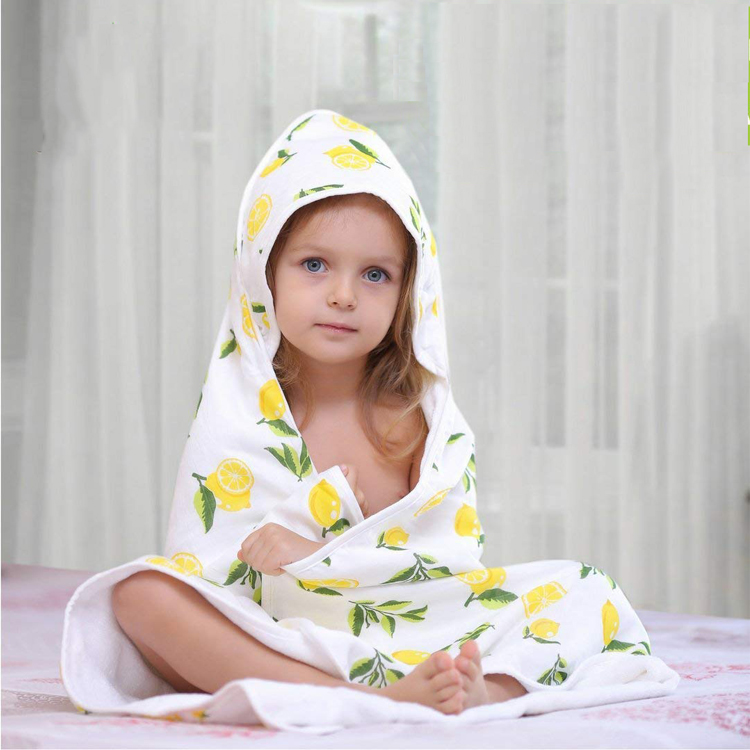 Perfect Shower Registry Gift 2 Layers Reversible Luxury Spa Super Soft Bamboo Hooded Baby Bath Towel