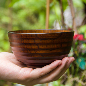 Wooden bowl environmental old lacquer rice noodle bowl
