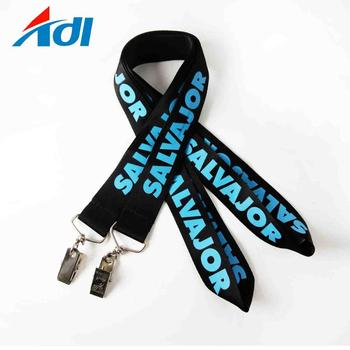 2018 lanyards supplier cheap custom polyester print logo lanyards with lobster claw
