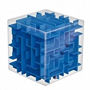 Magic Cube Maze Labyrinth Rolling Ball Balance Brain Teaser Toy