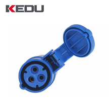 KEDU 2P+PE IP44 16amp 3 pin industrial female electrical plug socket With CE,SEMKO Certificated