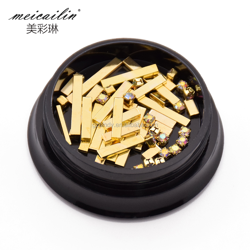 Metal alloy Golden Sticker for Nail art decoration