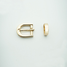 12mm zinc alloy two-piece pin buckle with keeper