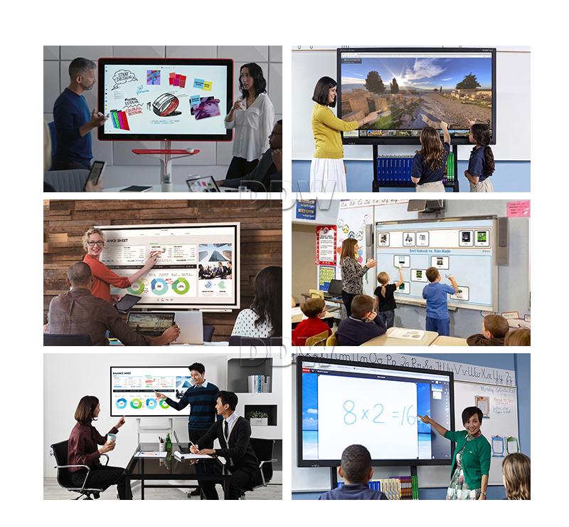 Markets hot 65 inch interactive whiteboard circuit board LG 700nits high brightness1920x1080 FHD interactive whiteboard stand