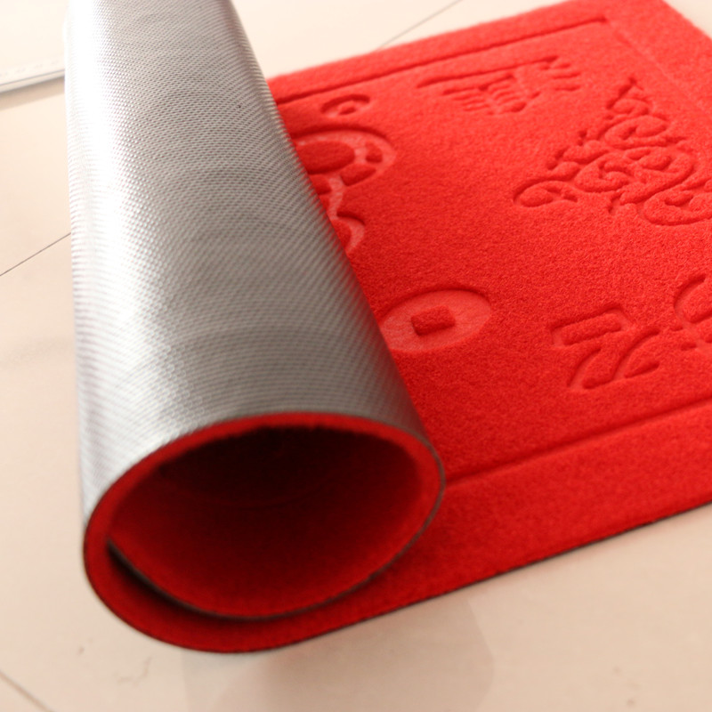 Heat embossed indoor outdoor carpet and rug with pvc backing