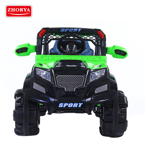 zhorya bluetooth remote control adjustable speed 4x4 kids toy electric ride on jeep for sale