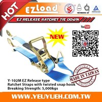 [EZ LOAD] 50mm 5000KGS Car Hauler Straps for Car Carrier Tiedown