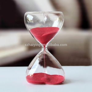 Heart Shape Countdown Large Hourglass Sand Timer for Decoration