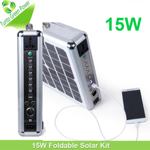 15W Solar Portable Suitcase Kit for Camping Hiking any Other Outdoor Activities