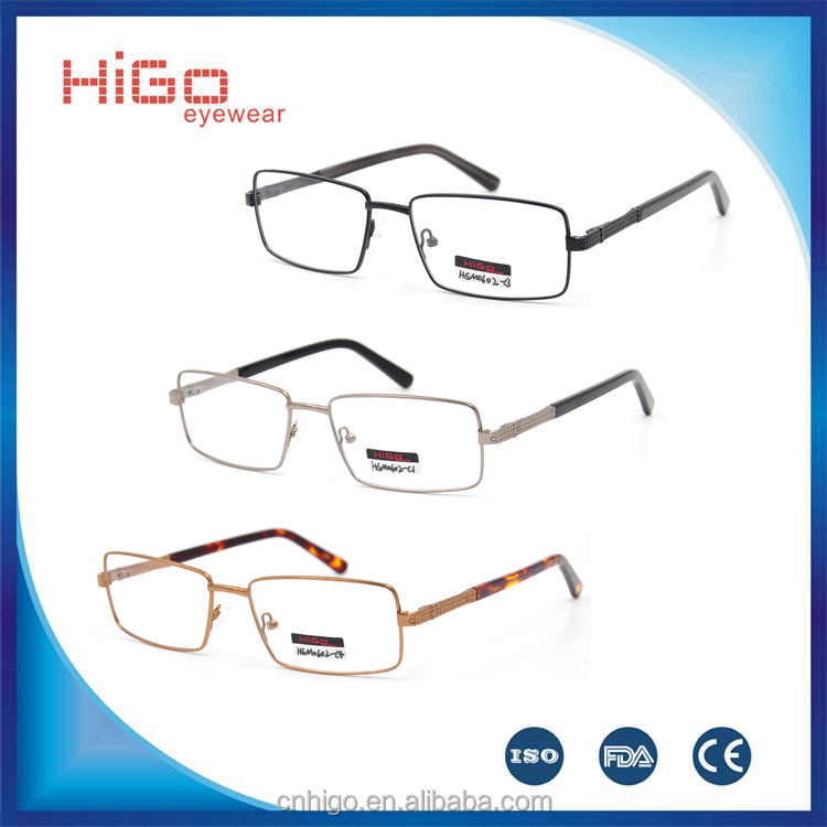 Eyeglasses frame New designer fashion metal/stainless fashion optical frames glasses for men