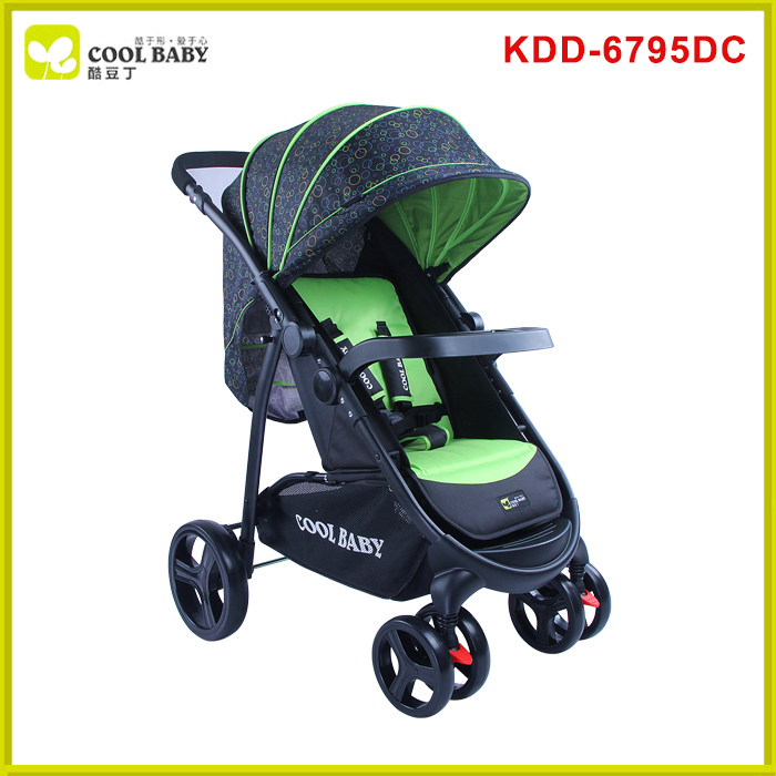 Comfortable light weight easy carrying pram with handle Softtextile Stroller Baby