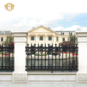 2016 Top-selling galvanized hand forged iron art fence