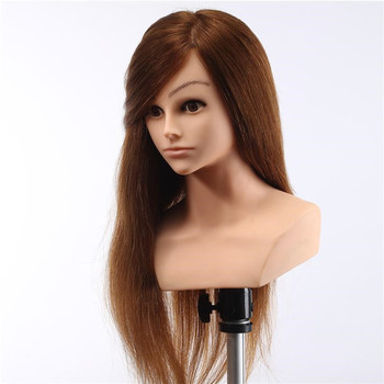 Wholers Uk Salon Tools And Equipment Hairdresser Training Head Shoulders Cosmetology Real Hair Makeup Manikin