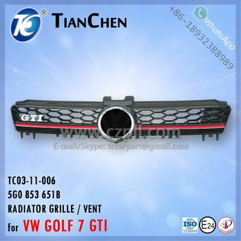 RADIATOR GRILLE for GOLF VII GTI / VENT for GOLF 7 GTI / 5G0 853 651 B - 5G0853651B - 5G0853651