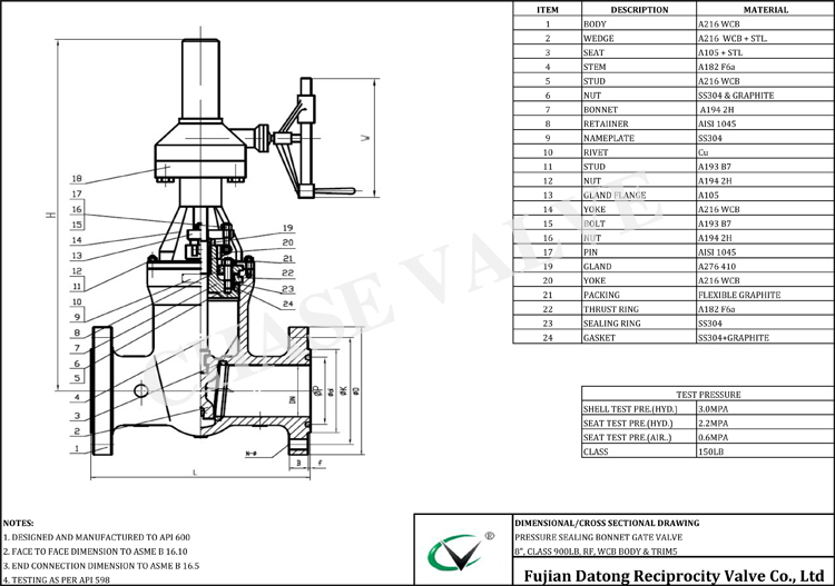 Pressure Sealing Gate Valve Types Specification Suppliers From ...