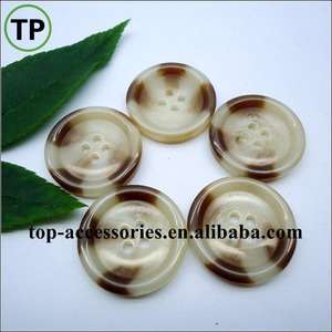 Imitation horn big coat plastic/resin buttons with four holes