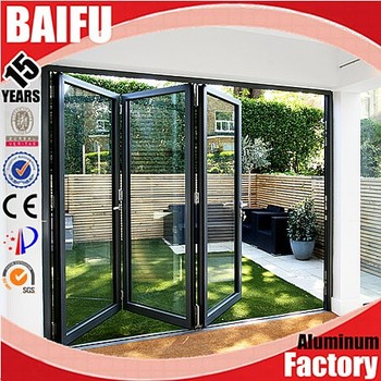 Baifu interior folding doors aluminum used commercial glass doors for sale buy used commercial for Commercial accordion doors interior