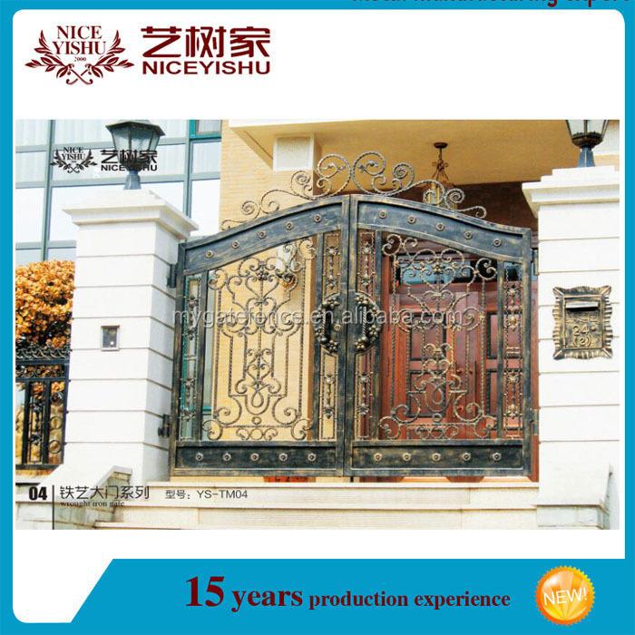 Yishujia Factory Home Decor Iron Main Gate Entrance Gate