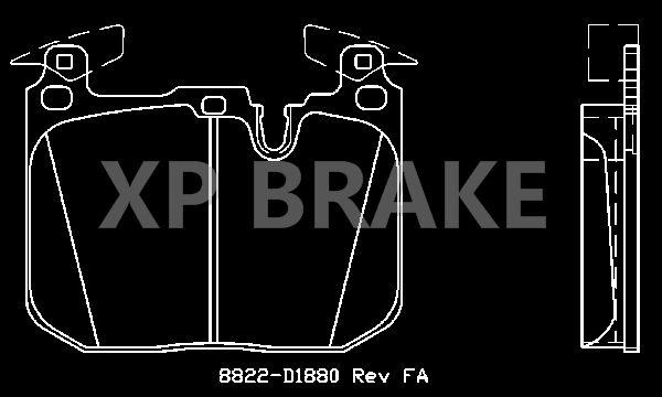 Front Delphi Brake Pads Full Axle Braking Set BMW 3 Series 335 d