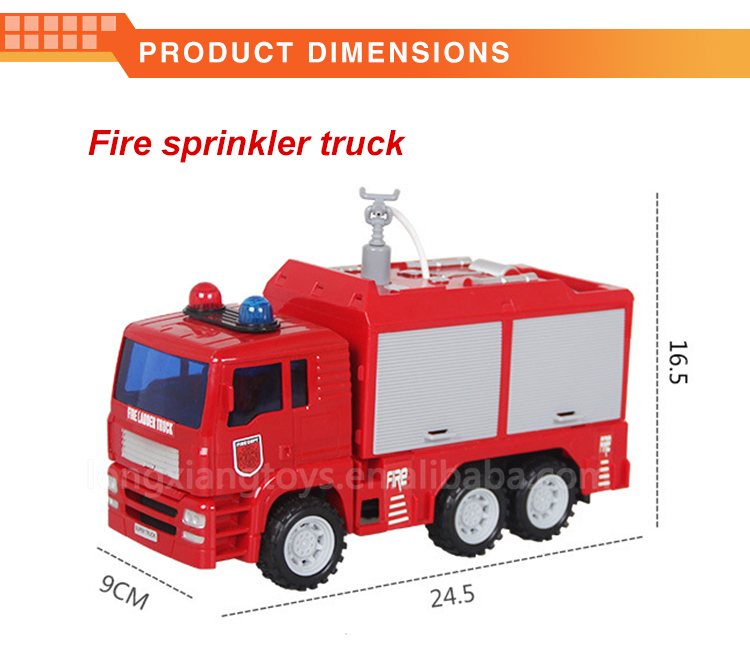 New product kids plastic fire water cannon fire rescue fire truck toy