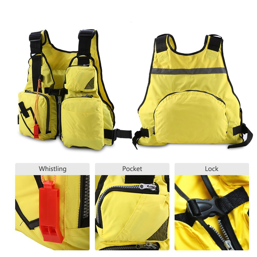 Fishing Life Jackets Life Vests for Adults Men Buoyancy Aid Vest Swimming Boating Kayak Life Jacket Vest Fishing Safety Life Jacket with Whistle Women Youth Boating Vest Sailing Drift Suit