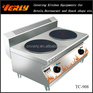 Stainless steel commercial kitchen equipment/ table top 2 hot plate cooker TC-908