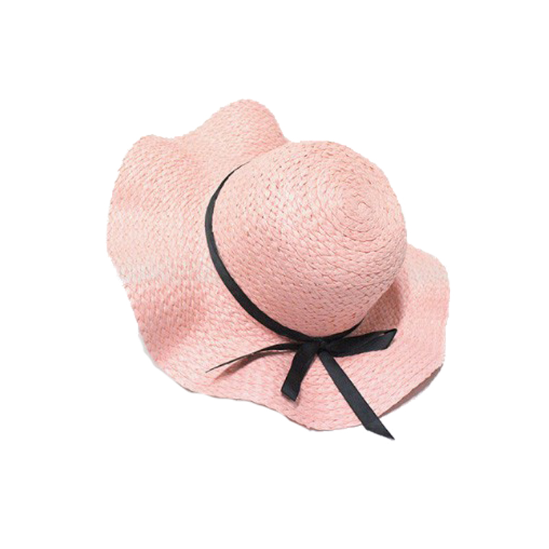Custom Logo Printed Big Brim Summer Hats Cheap Wholesale Paper Ladies  Floppy Straw Hats adc4cf84b29
