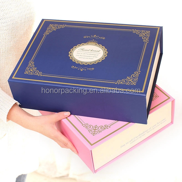 China supplier handmade dolls paper box gift box packaging box with magnetic closure for sale