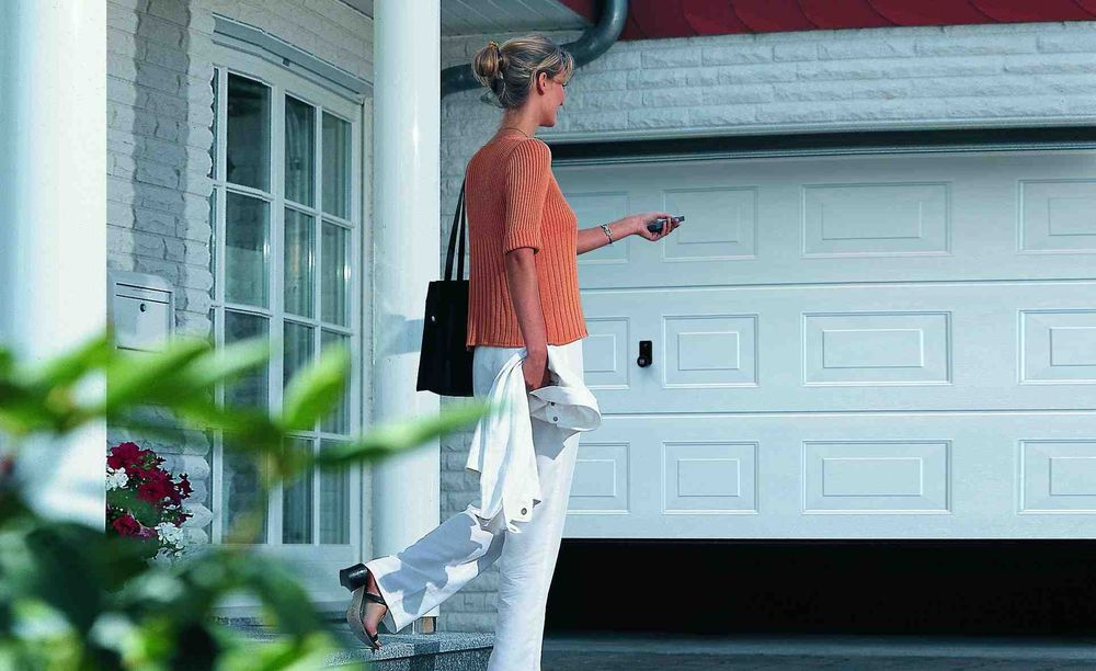 Sliding Garage Door Track finger protect double track high quality remote control automatic