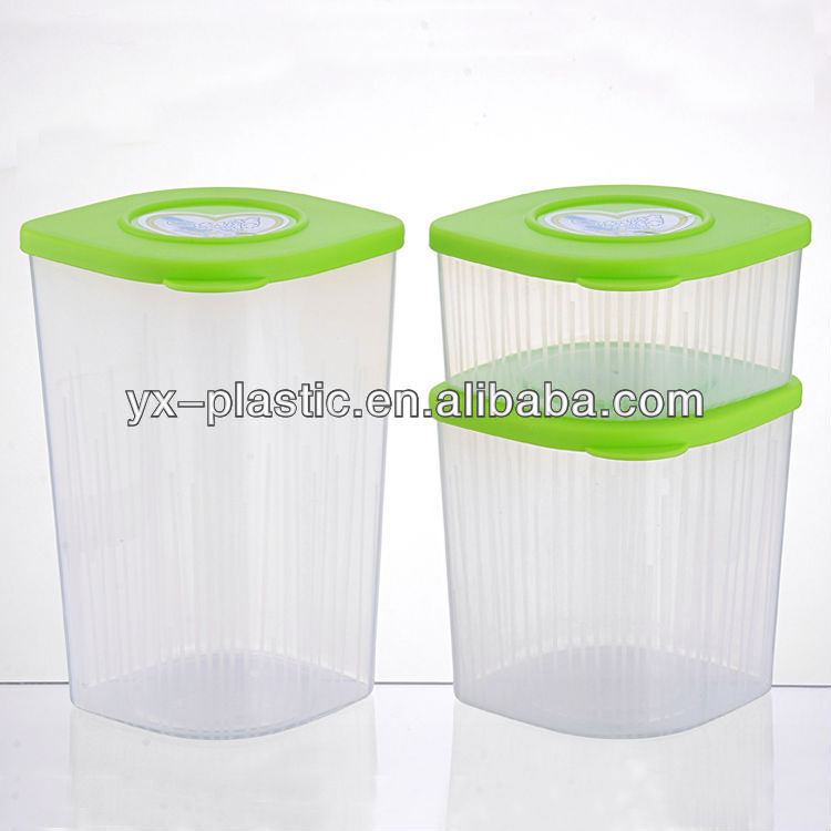 Kitchen Clear Square Plastic Food Storage Canisters Set - Buy Plastic  Kitchen Storage Canisters,Plastic Food Canister,Kitchen Storage Can Product  on ...